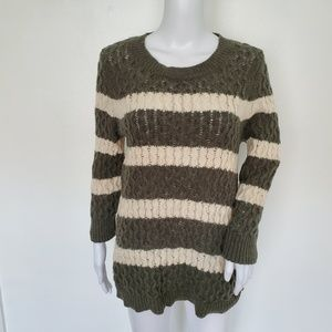 J.Crew Wool Cable Knit Longsleeve Sweater Size M